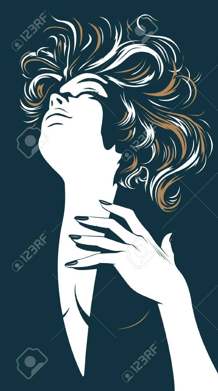 glamour pretty women silhouette - 9647197