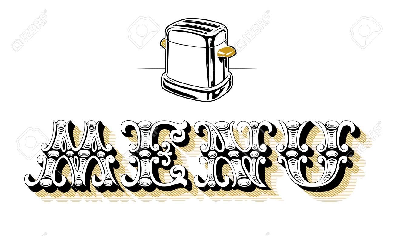 menu blank toaster Stock Vector - 9707127