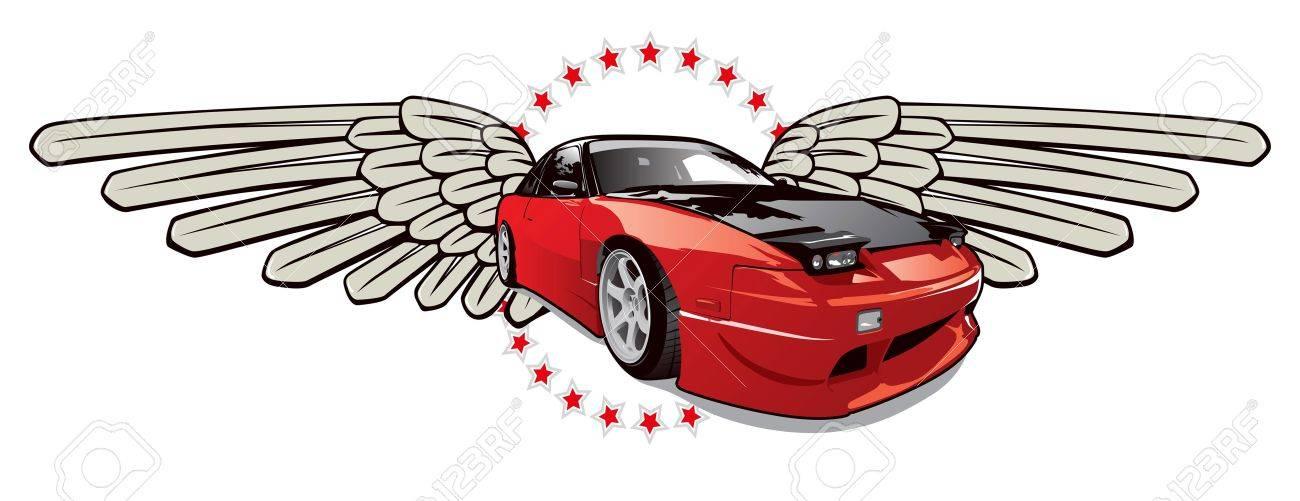 red race car emblem - 10266231
