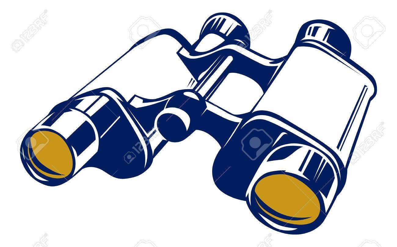 binoculars icon in basic vector style - 10472696