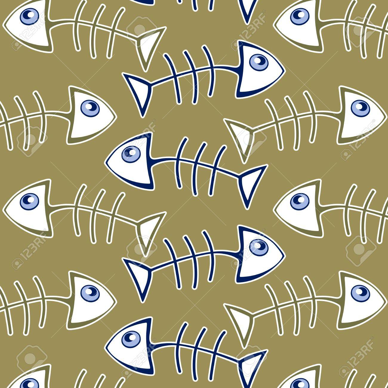 fish bone pattern background in green Stock Vector - 10826259