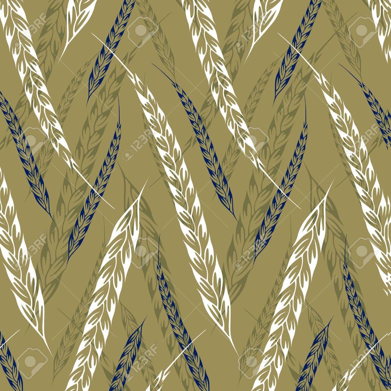 ear wheat pattern background - 10826297