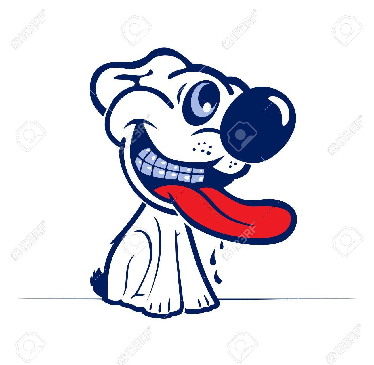 Mean Dog Face Cartoon Mean Dog Cartoon Dog Smile