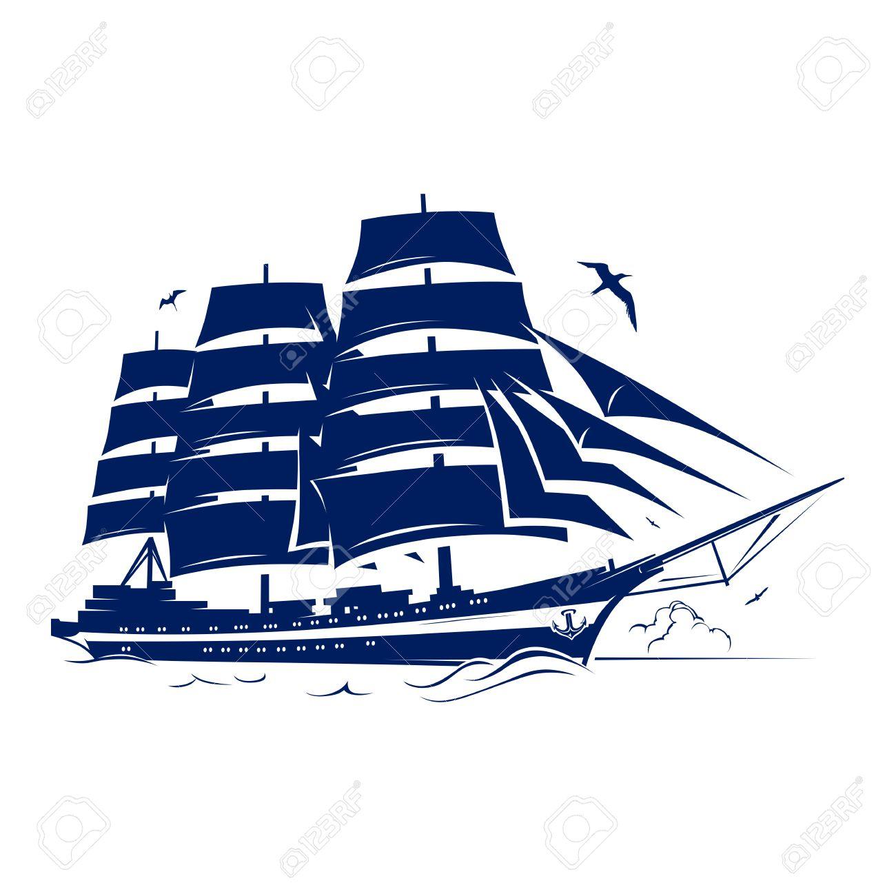 Sail ship Vector Illustration - 27447588