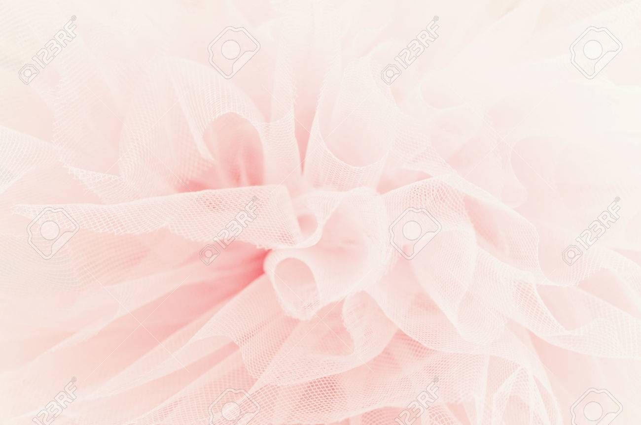 Beautiful layers of delicate pink fabric - 40461066