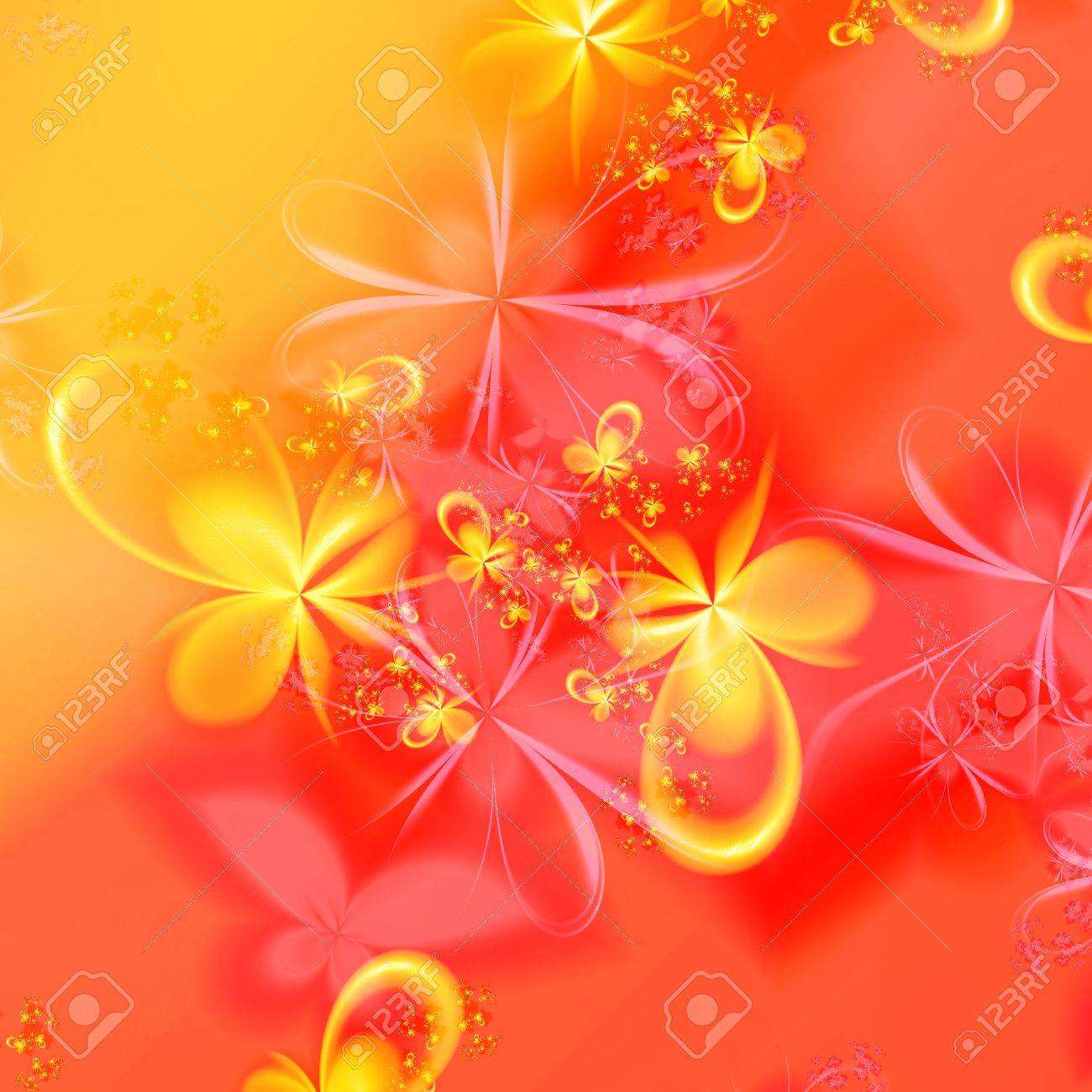 3D rendered abstract of fractal floral patterns - 18660756