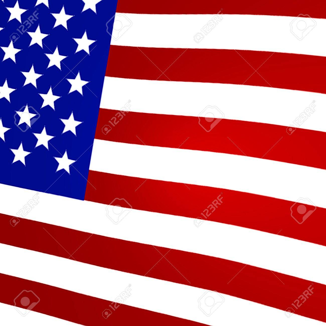 Graphic image of a 3D rendered flag of the United States - 19122180