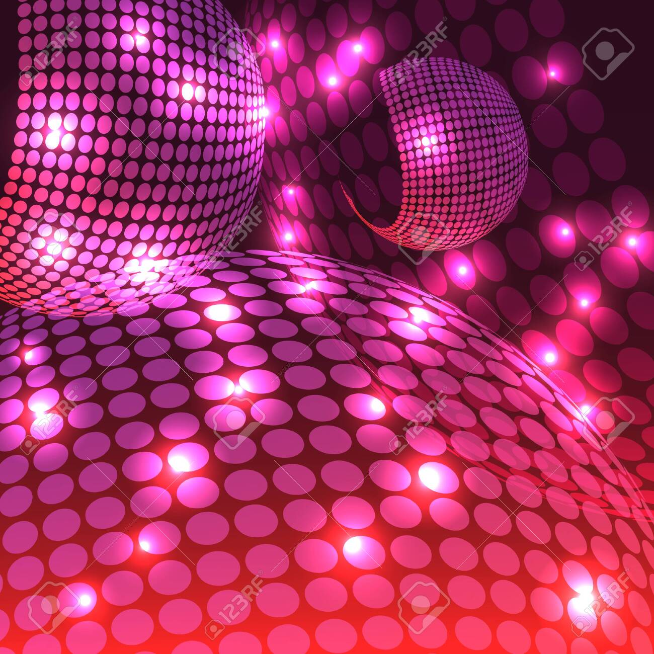 An abstract rendering of a disco night with shades of purple. - 130400268