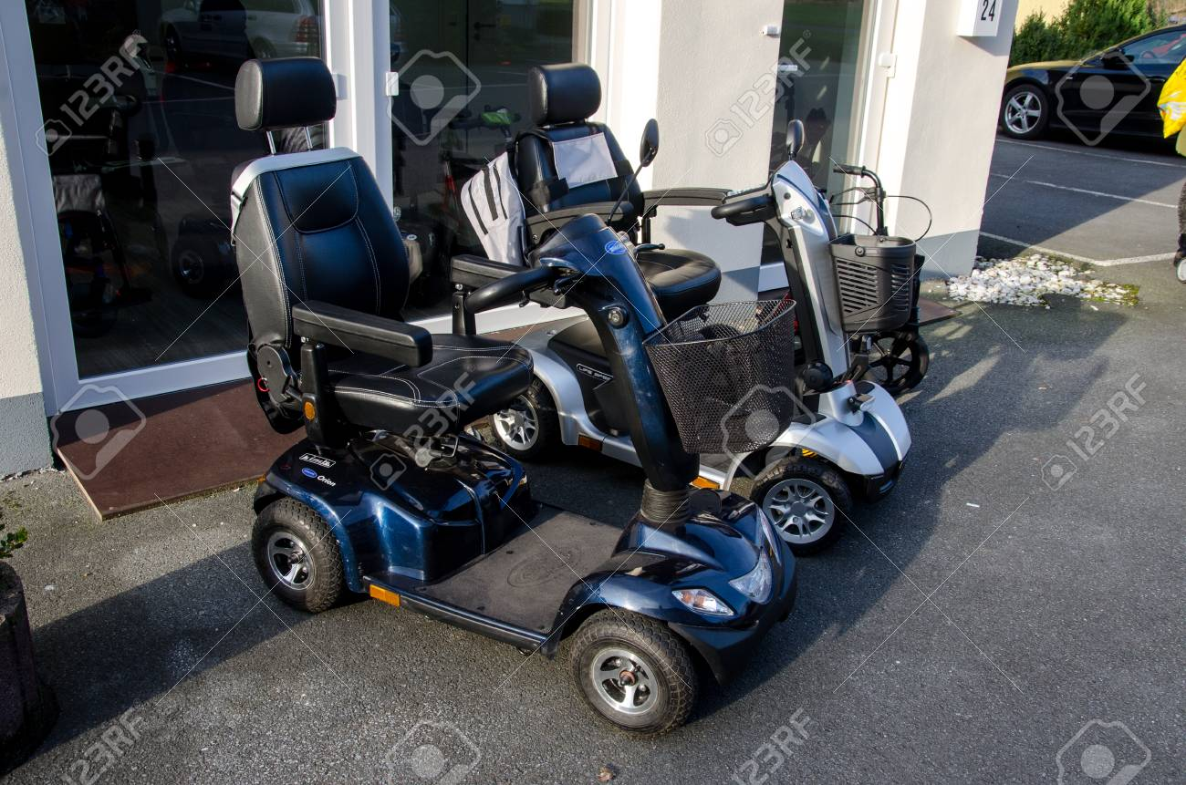 Soest Germany January 8 2018 Invacare Mobility Scooter And Stock Photo Picture And Royalty Free Image Image 97175603