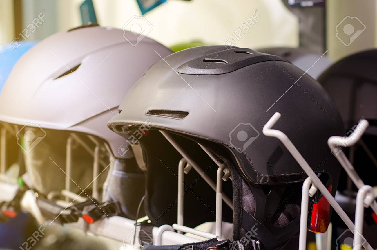 Ski Helmet Sale >> Ski Helmet For Sale In The Shop Stock Photo Picture And Royalty