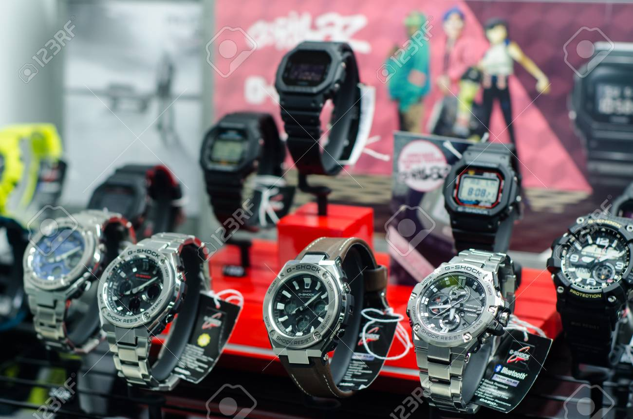657473f9eab2 Soest, Germany - January 14, 2019: Casio G-Shock Watches In The ...