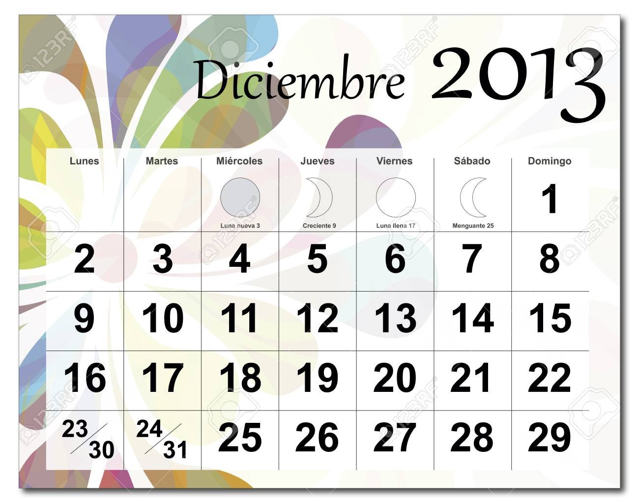December 2013 calendar Stock Vector - 15703088