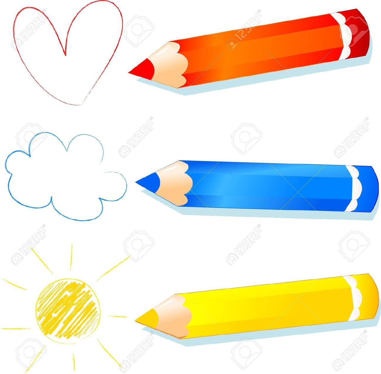 red, blue and yellow explained to children, vector Stock Vector - 9707514