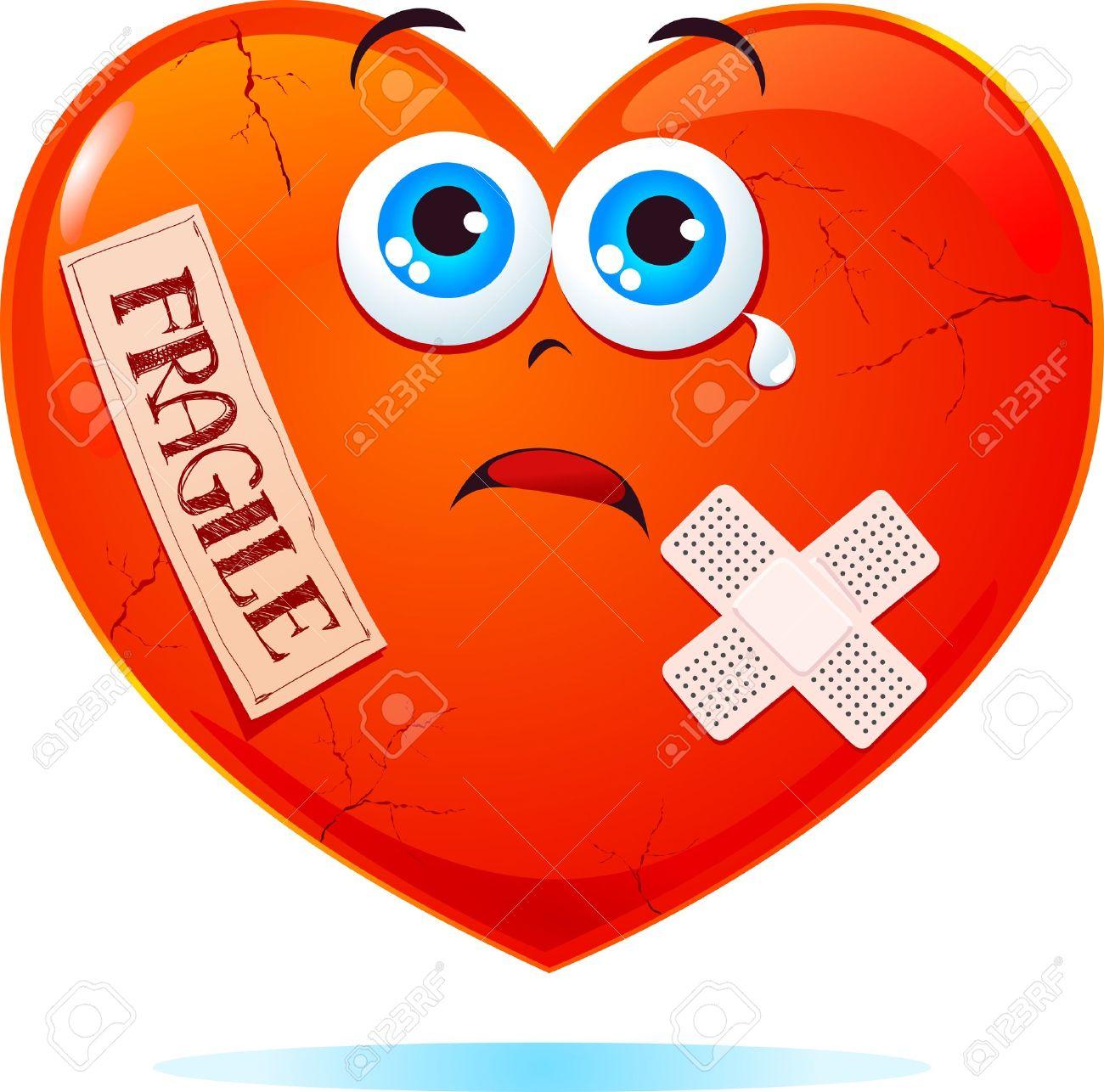 Broken heart labeled fragile - 9893145