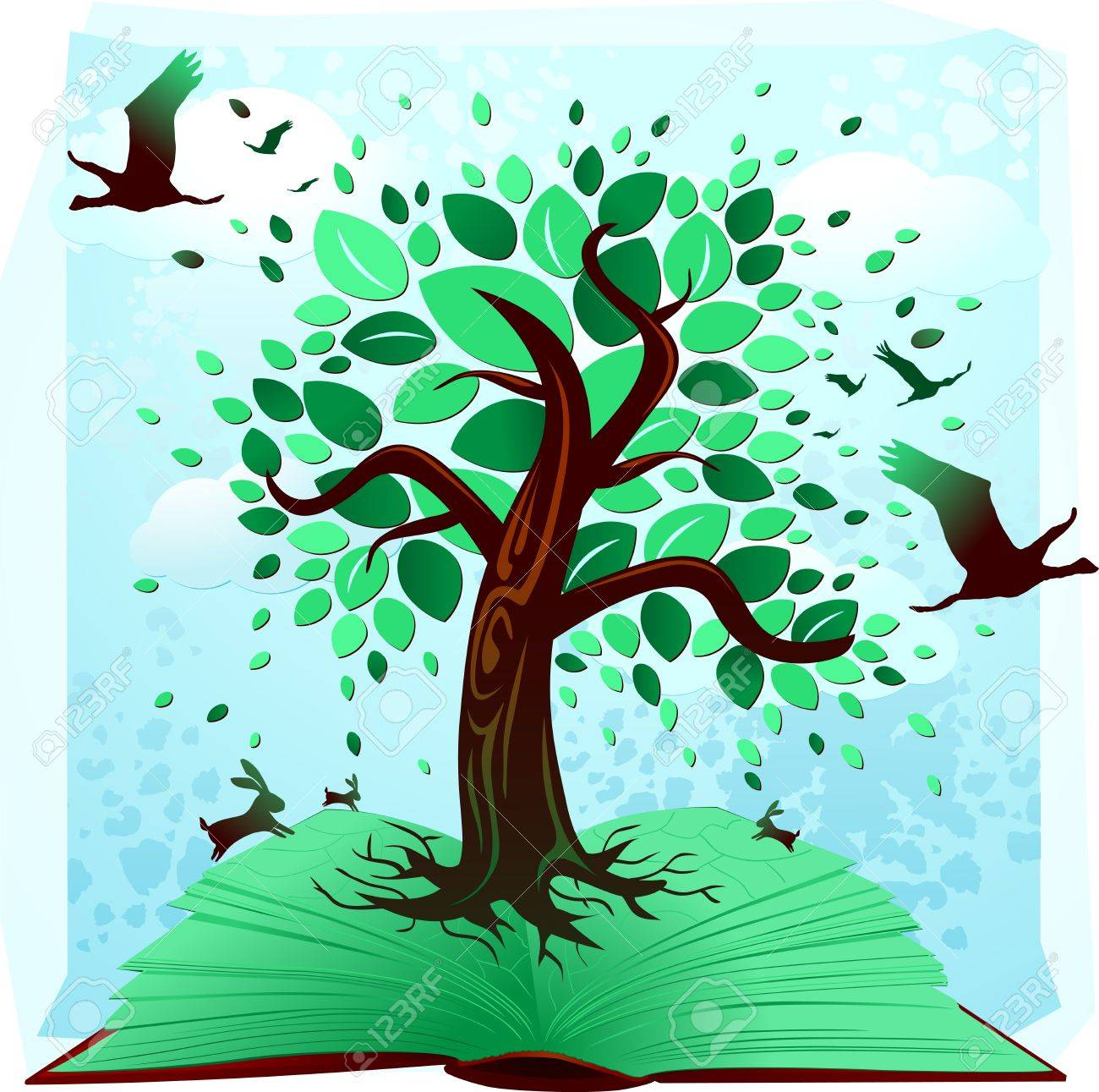 The book of environment Stock Vector - 9993904
