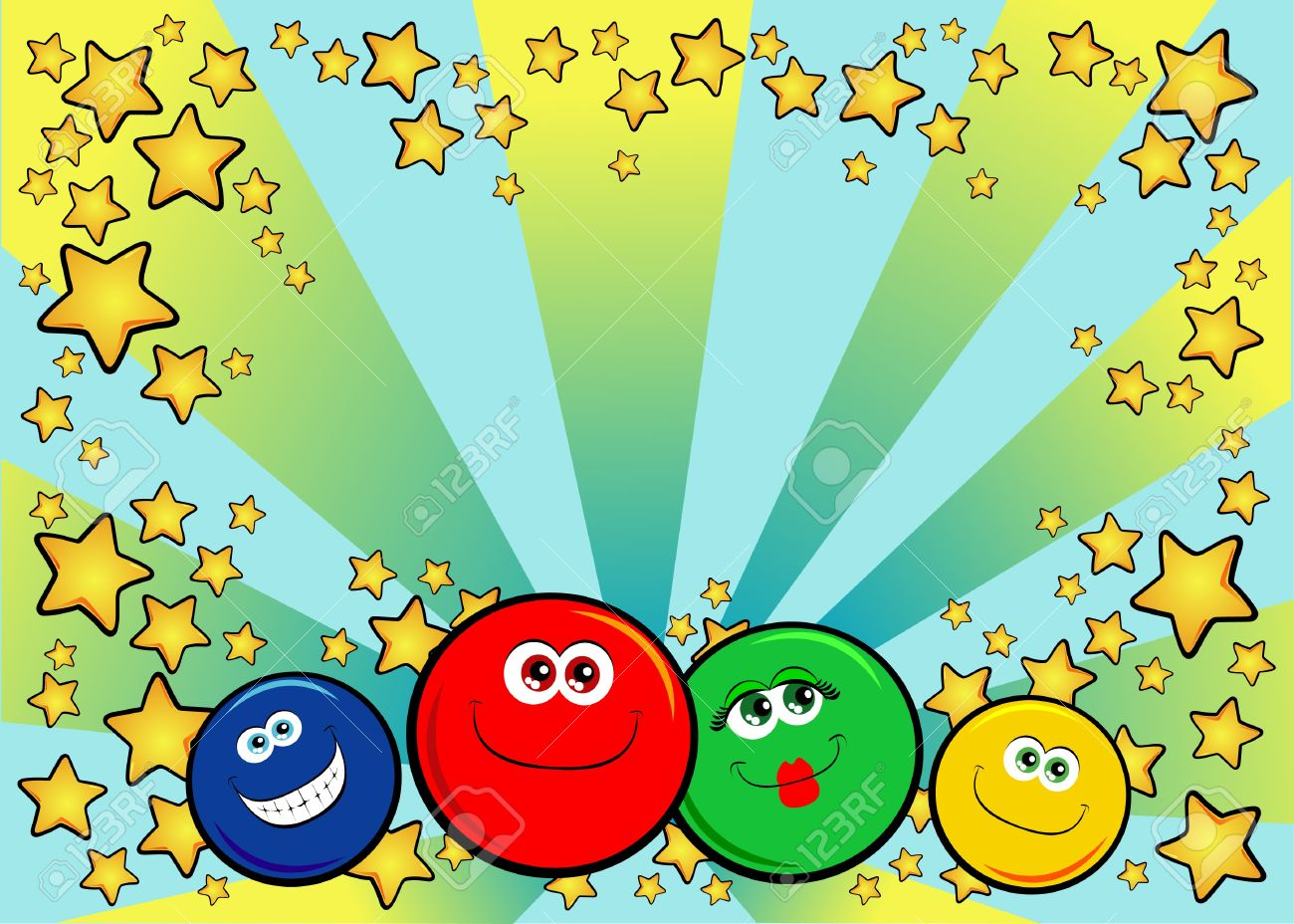 Background decor personalized with funny smiley faces. Vector Stock Vector - 10069949