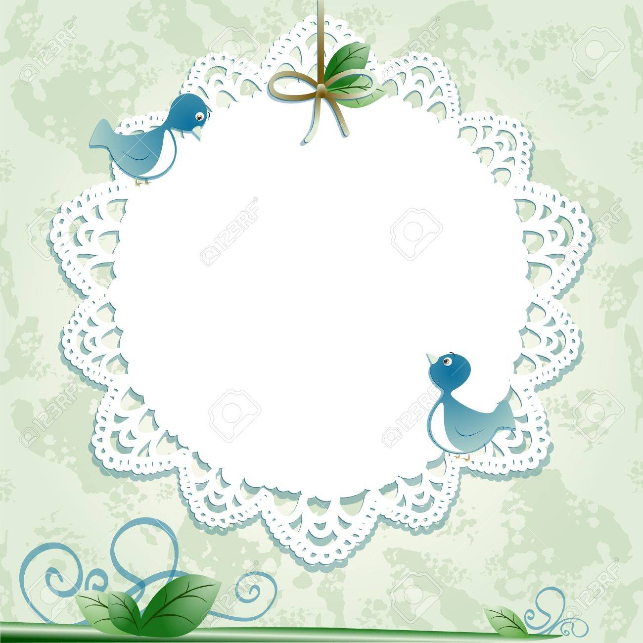 Vintage background with birds. Vector image - 10442376