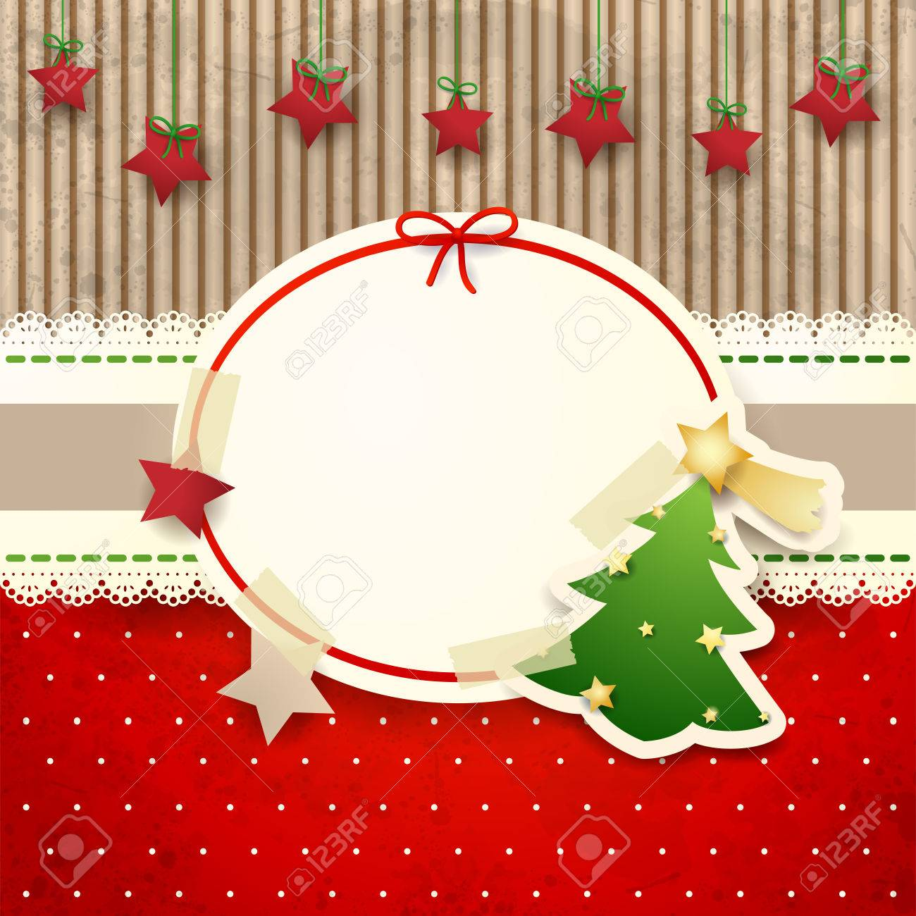 Christmas background with paper tree - 22544327