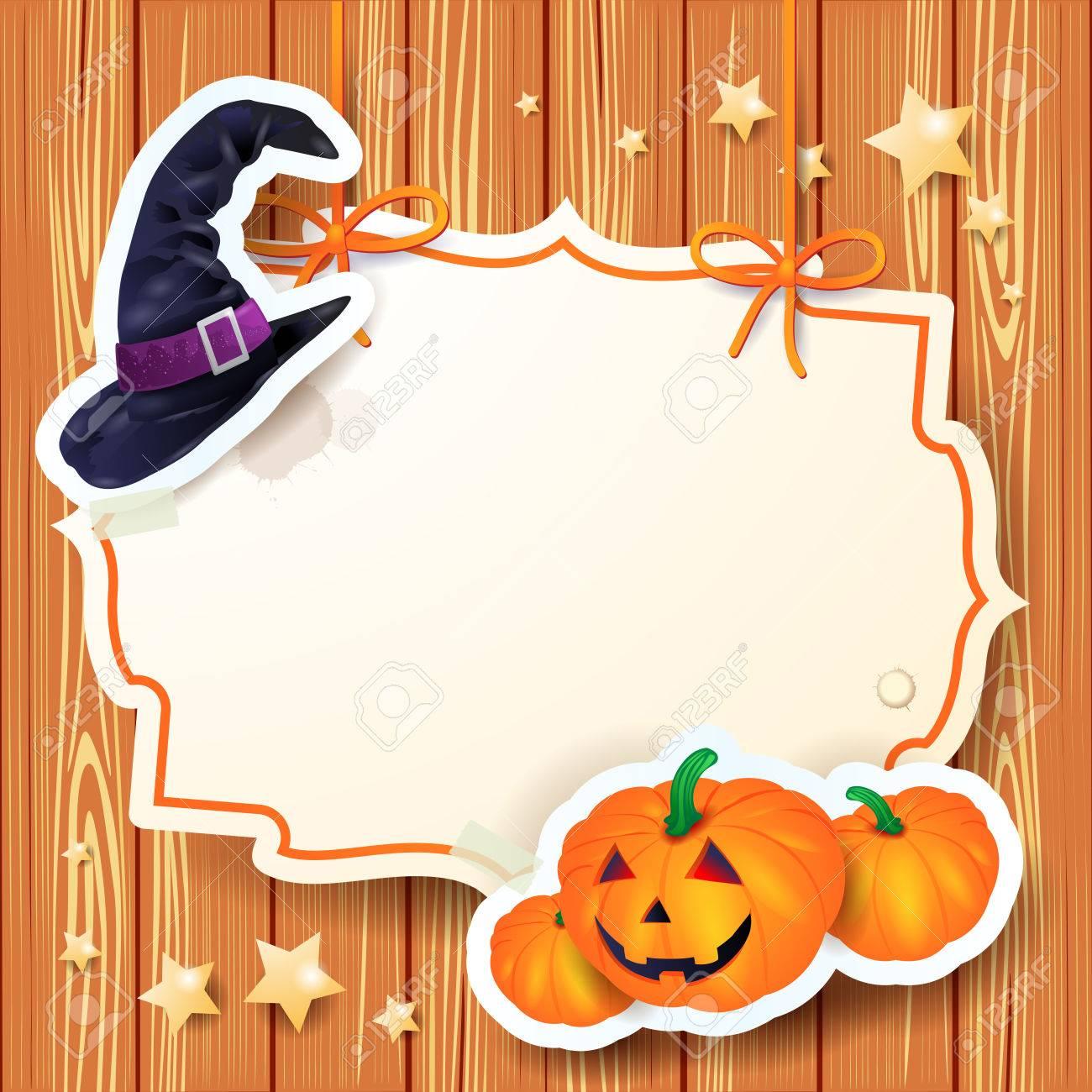 Halloween background with label, vector eps10 Stock Vector - 23026615
