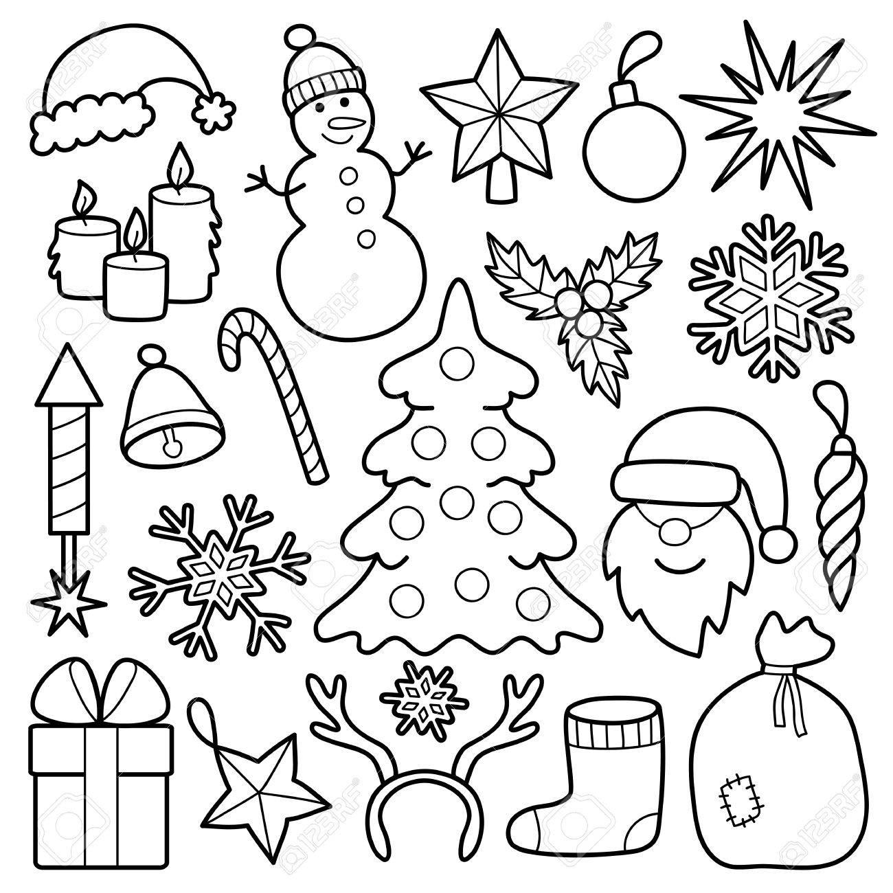 Navidad Conjunto De Parches Pines Distintivos Establecidos Colección De Pegatinas Año Nuevo Apliques De Mezclilla O Ropa Página En Blanco Y