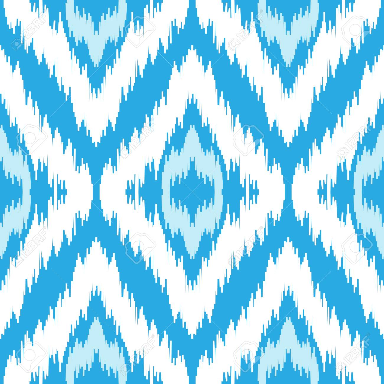 Motif Bleu Et Blanc Sans Couture Ethnique Boho Hiver Impression
