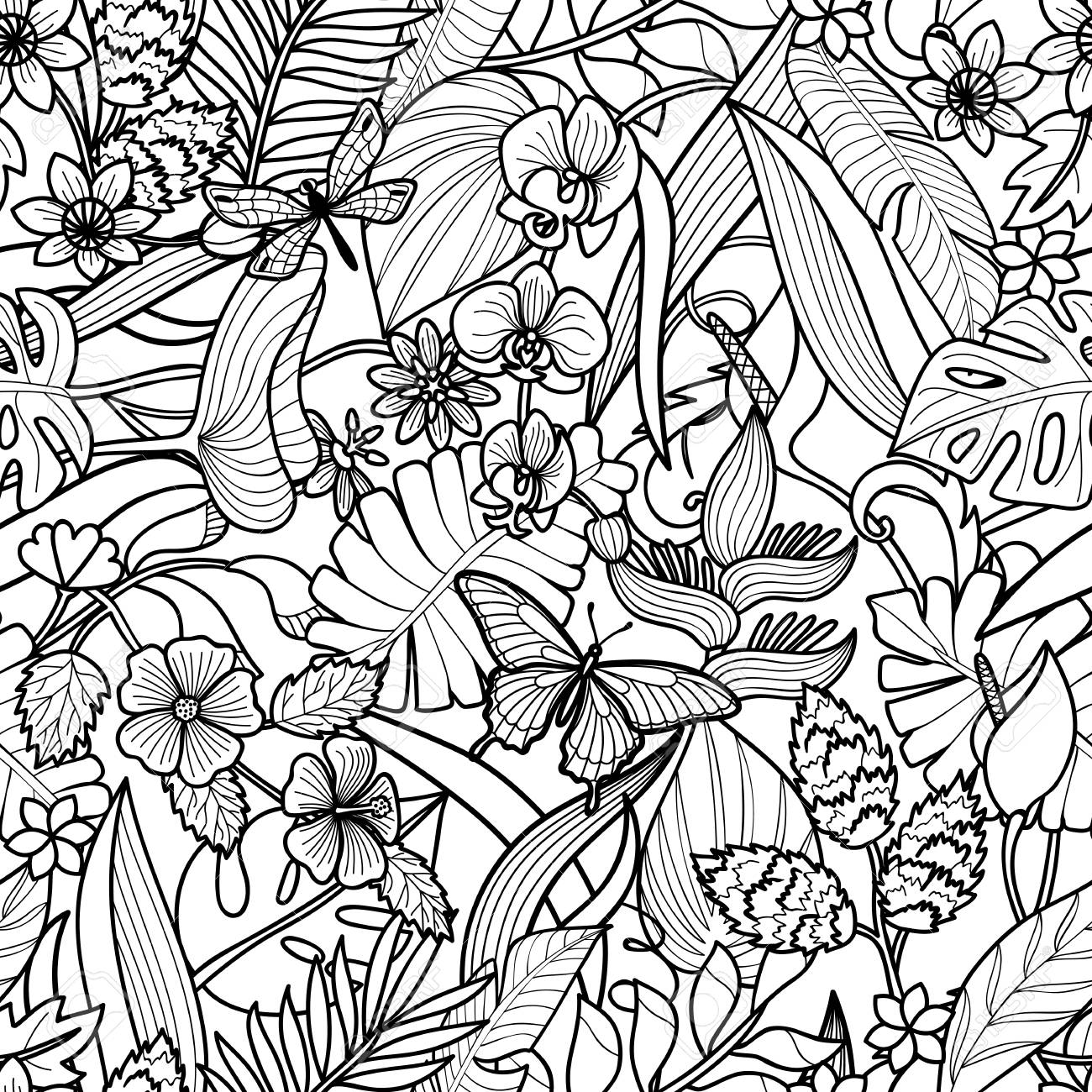 32 Tropical Flowers Coloring Pages Free Printable Coloring Pages Polish your personal project or design with these tropical leaves transparent png images, make it even more personalized and more attractive. 32 tropical flowers coloring pages