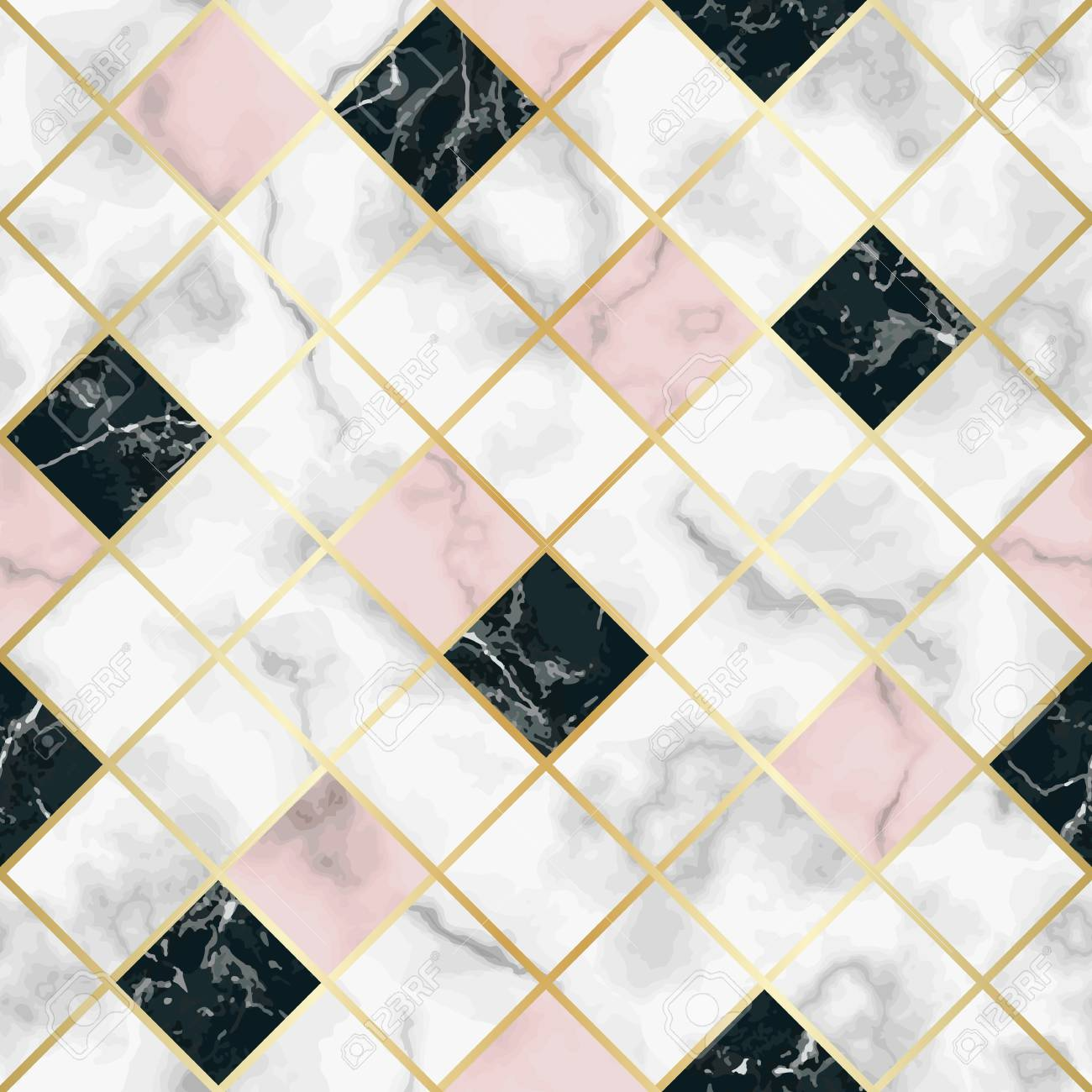 Vector Marble Seamless Pattern With Golden Geometric Diagonal Royalty Free Cliparts Vectors And Stock Illustration Image 114682994