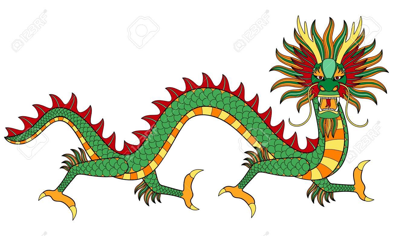 Asian Dragon Print Royalty Free Cliparts Vectors And Stock