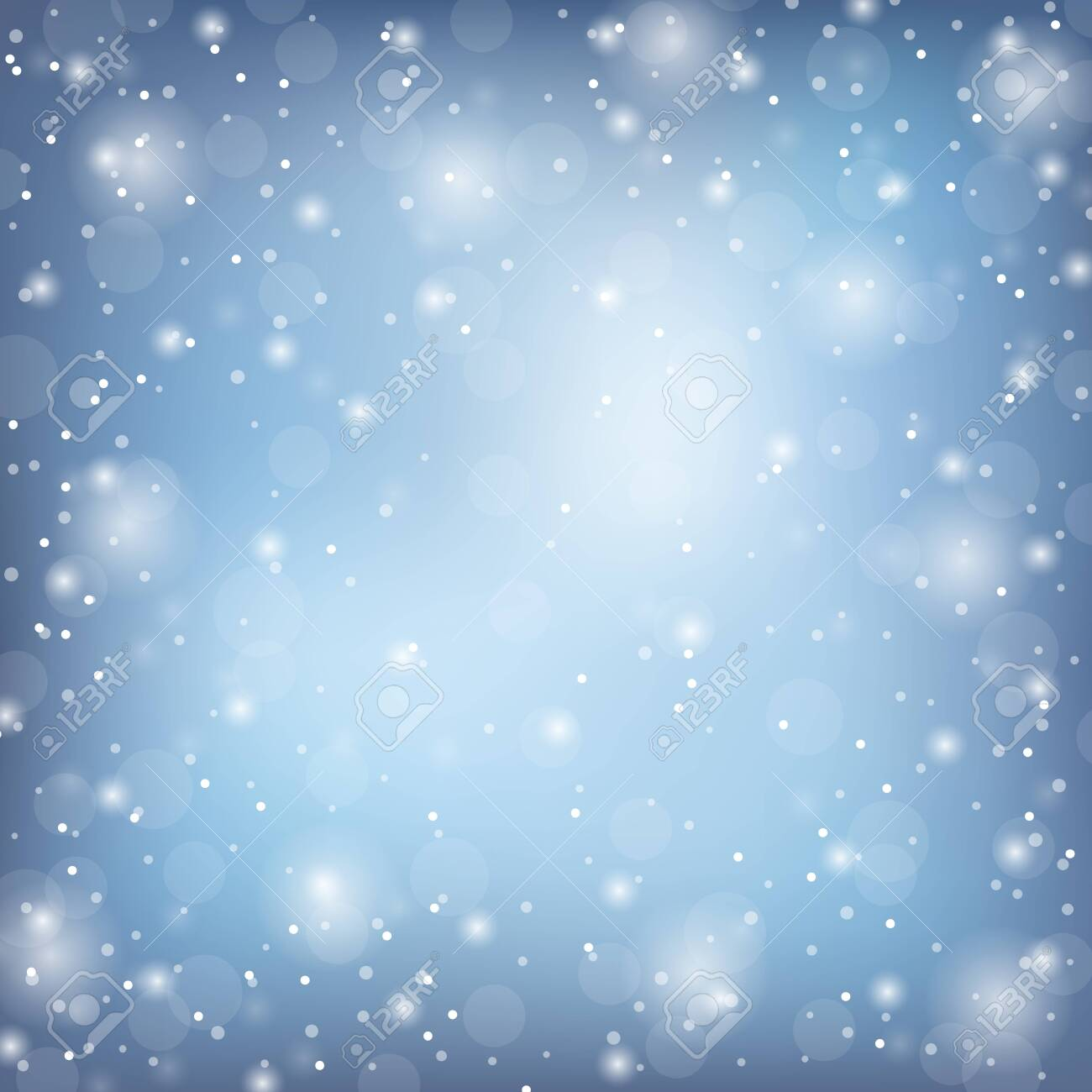 Winter frame with snow. Vector natural template - 133478405