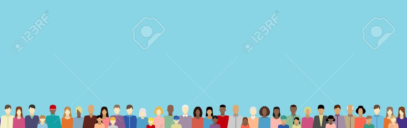 People of different nationalitiesin vector web banner - 142367996