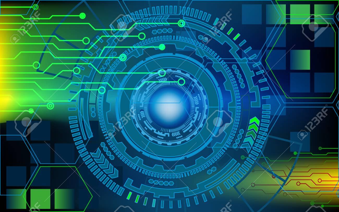 Computer Electronic Scheme Technology Background Circles. Futuristic ...