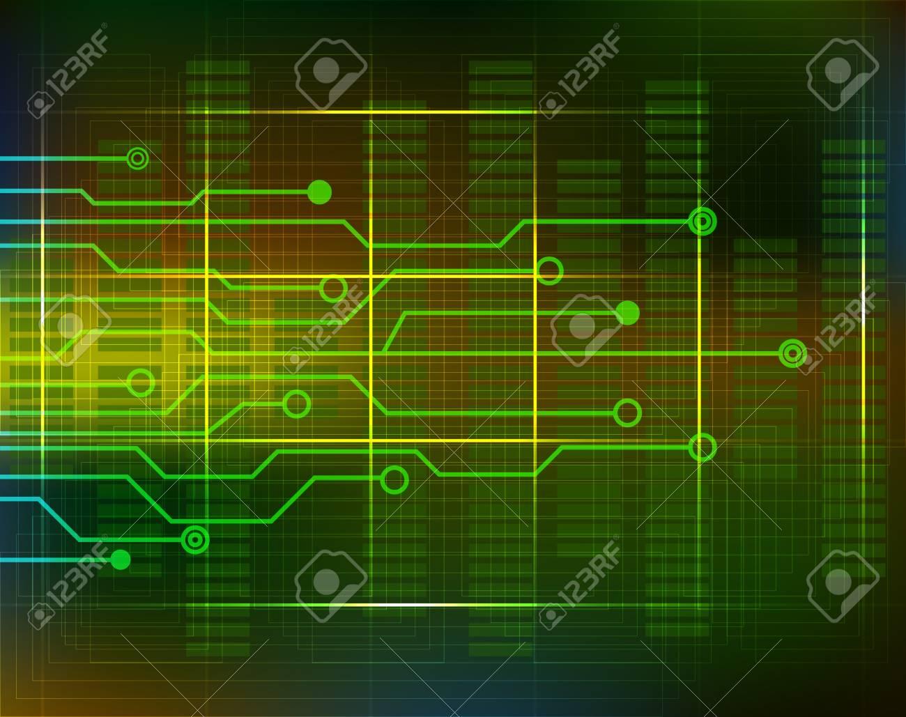 Computer Electronic Scheme Technology Background Circuit. Futuristic ...