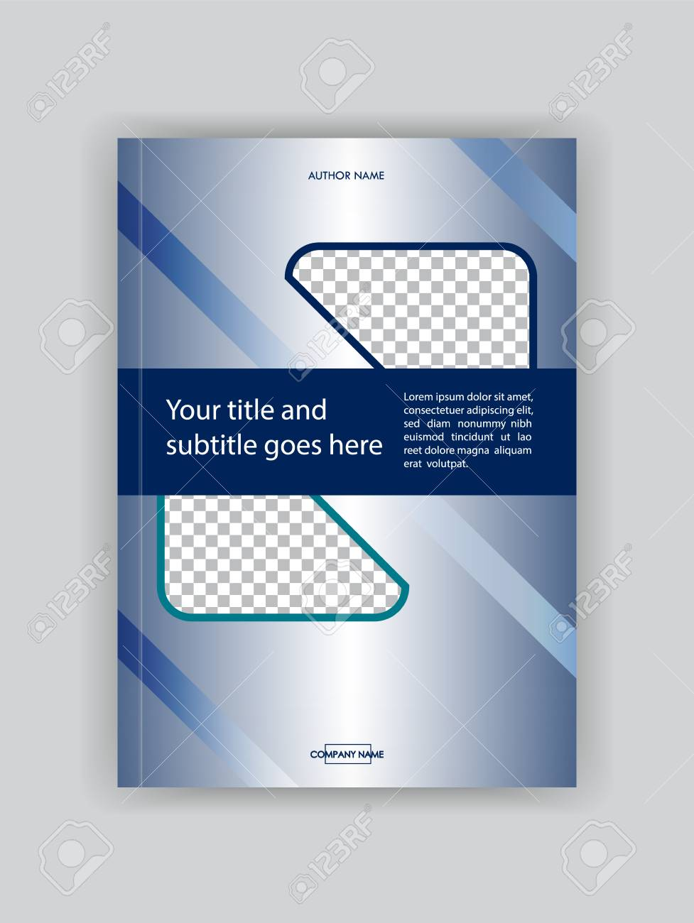 Business Book Cover Design Template Good For Portfolio Brochure