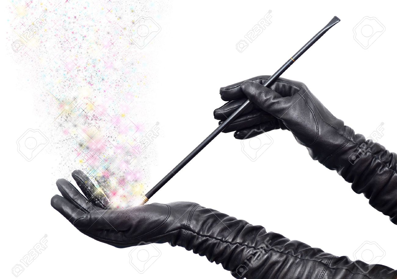 Black gloves white magic - Fairy Hands In Long Black Gloves Holding Magic Wand And Casting Spell Stock Photo 11143223