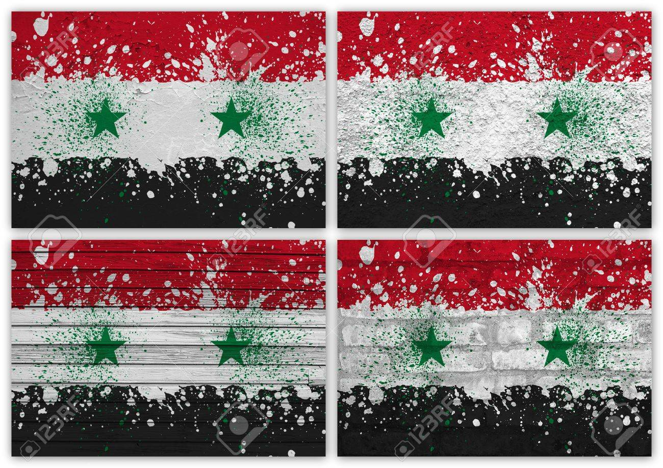 Collage of Syria flag with different texture backgrounds Stock Photo - 16006605