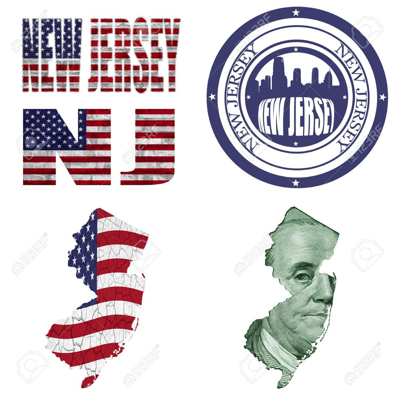 777 New Jersey State Map Cliparts, Stock Vector And Royalty Free ...
