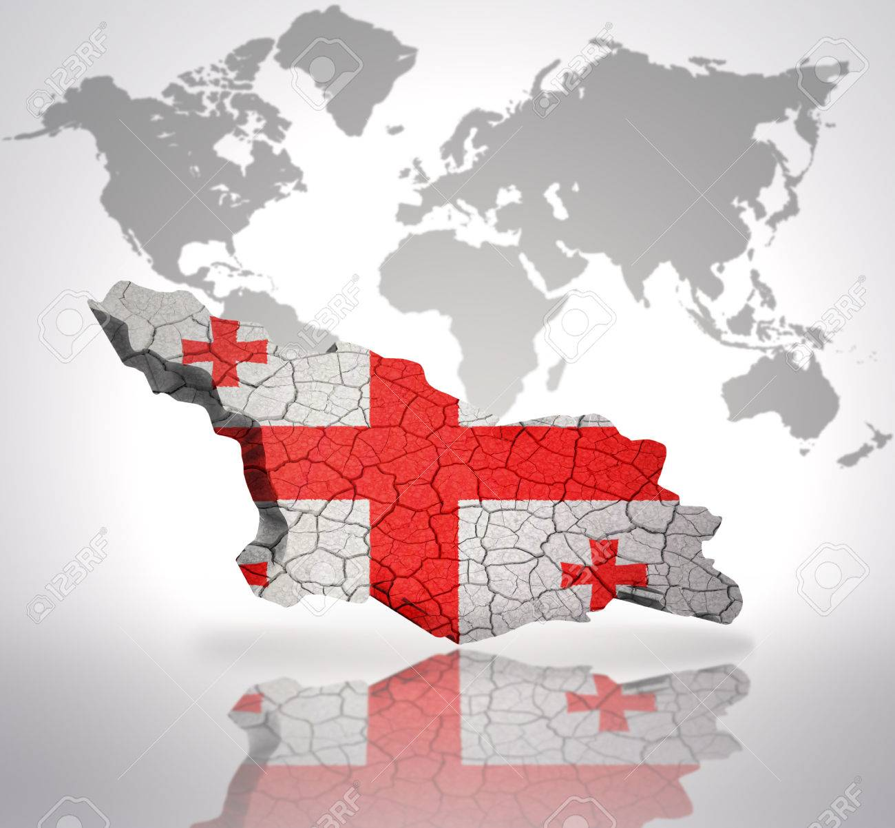 Map of georgia with georgian flag on a world map background stock map of georgia with georgian flag on a world map background stock photo 32714950 gumiabroncs Choice Image