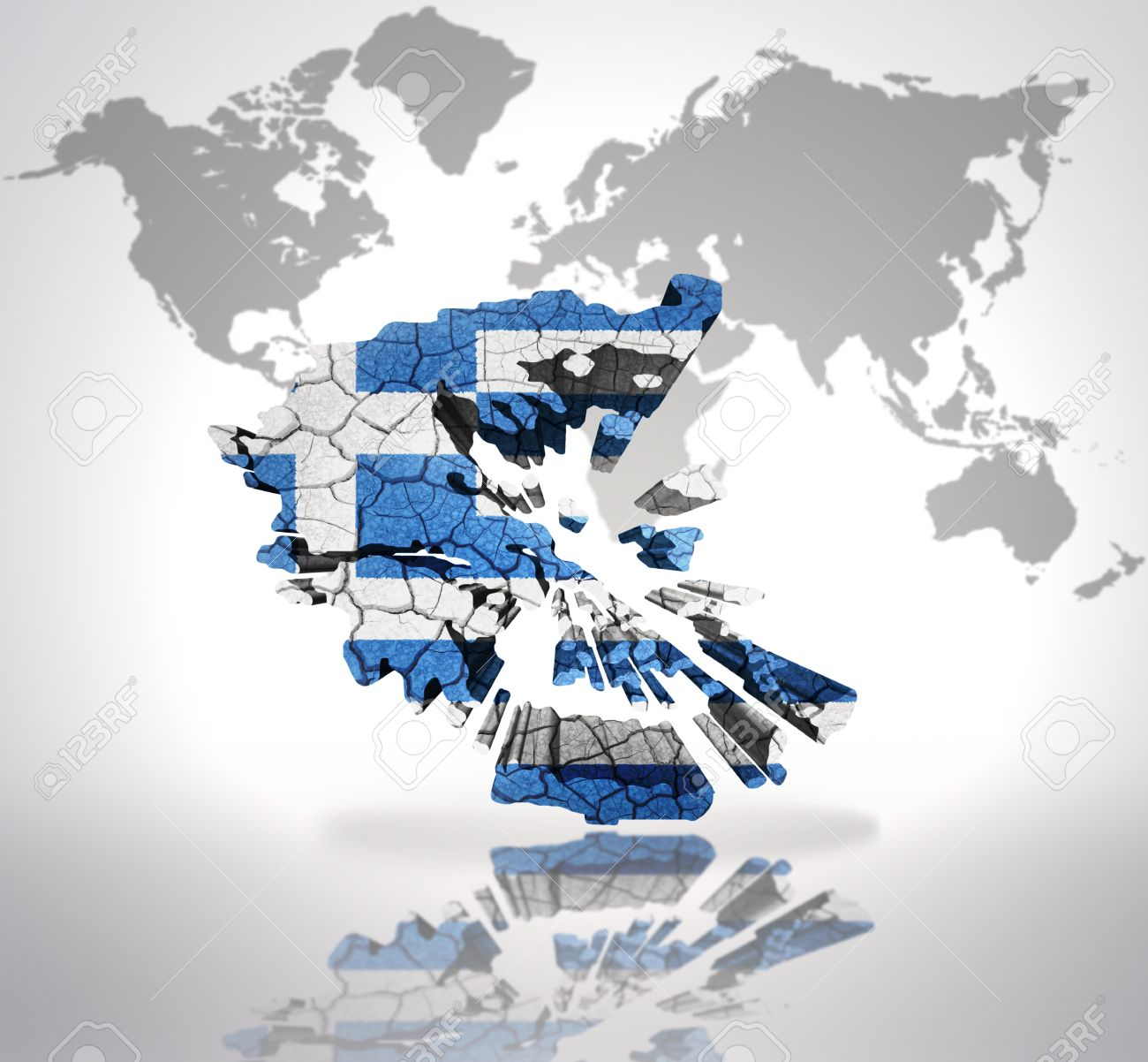 Map of greece with greek flag on a world map background stock photo map of greece with greek flag on a world map background stock photo 32714952 gumiabroncs Choice Image
