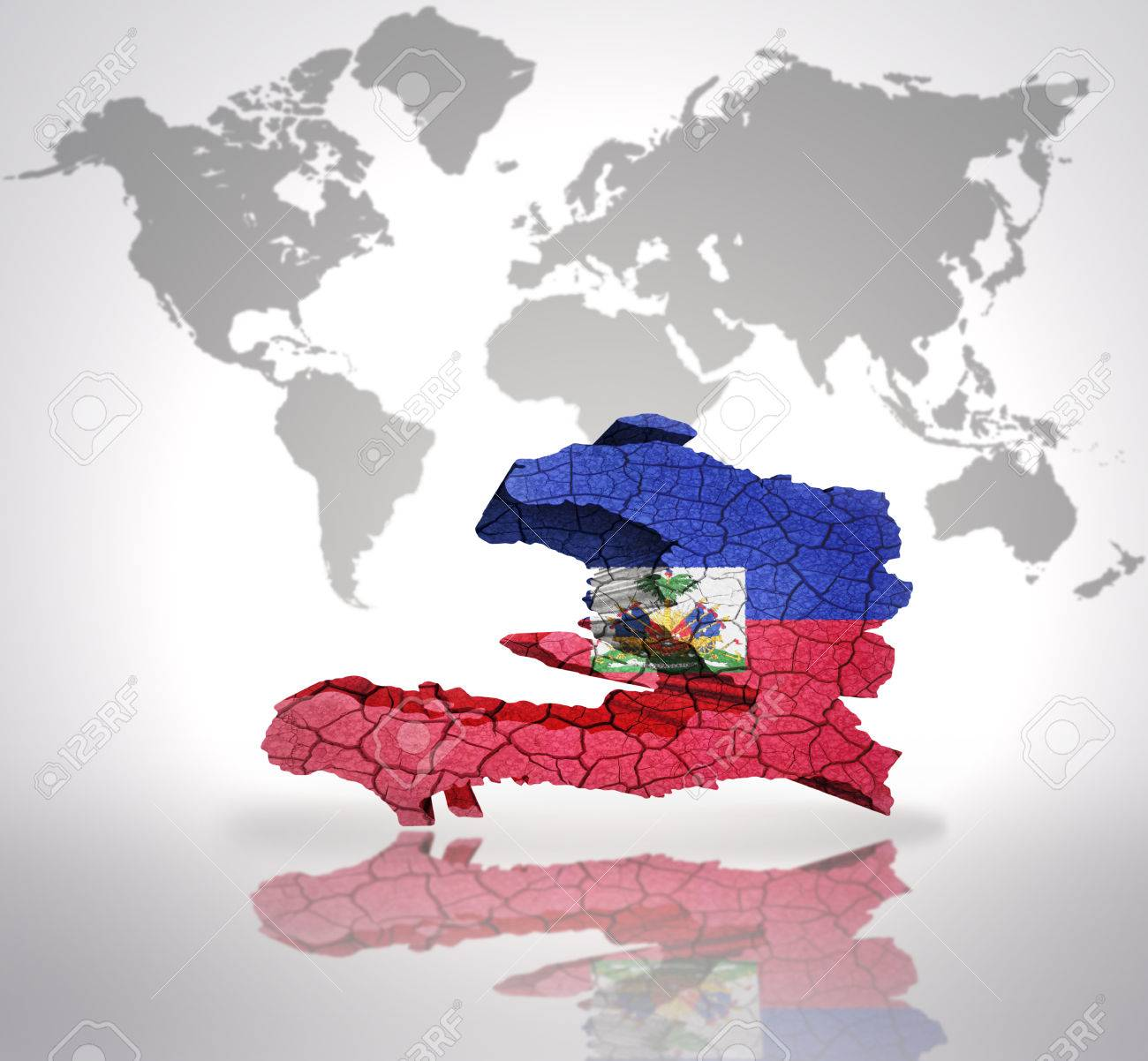 Map of haiti with haiti flag on a world map background stock photo map of haiti with haiti flag on a world map background stock photo 32762946 gumiabroncs Images
