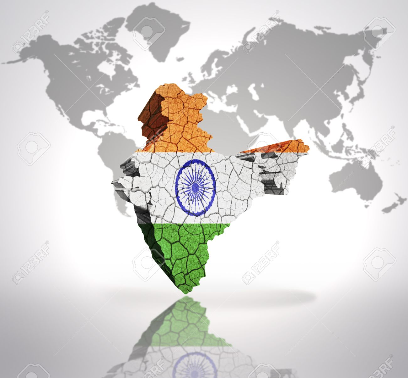 Map of india with indian flag on a world map background stock map of india with indian flag on a world map background stock photo 32802531 gumiabroncs Choice Image
