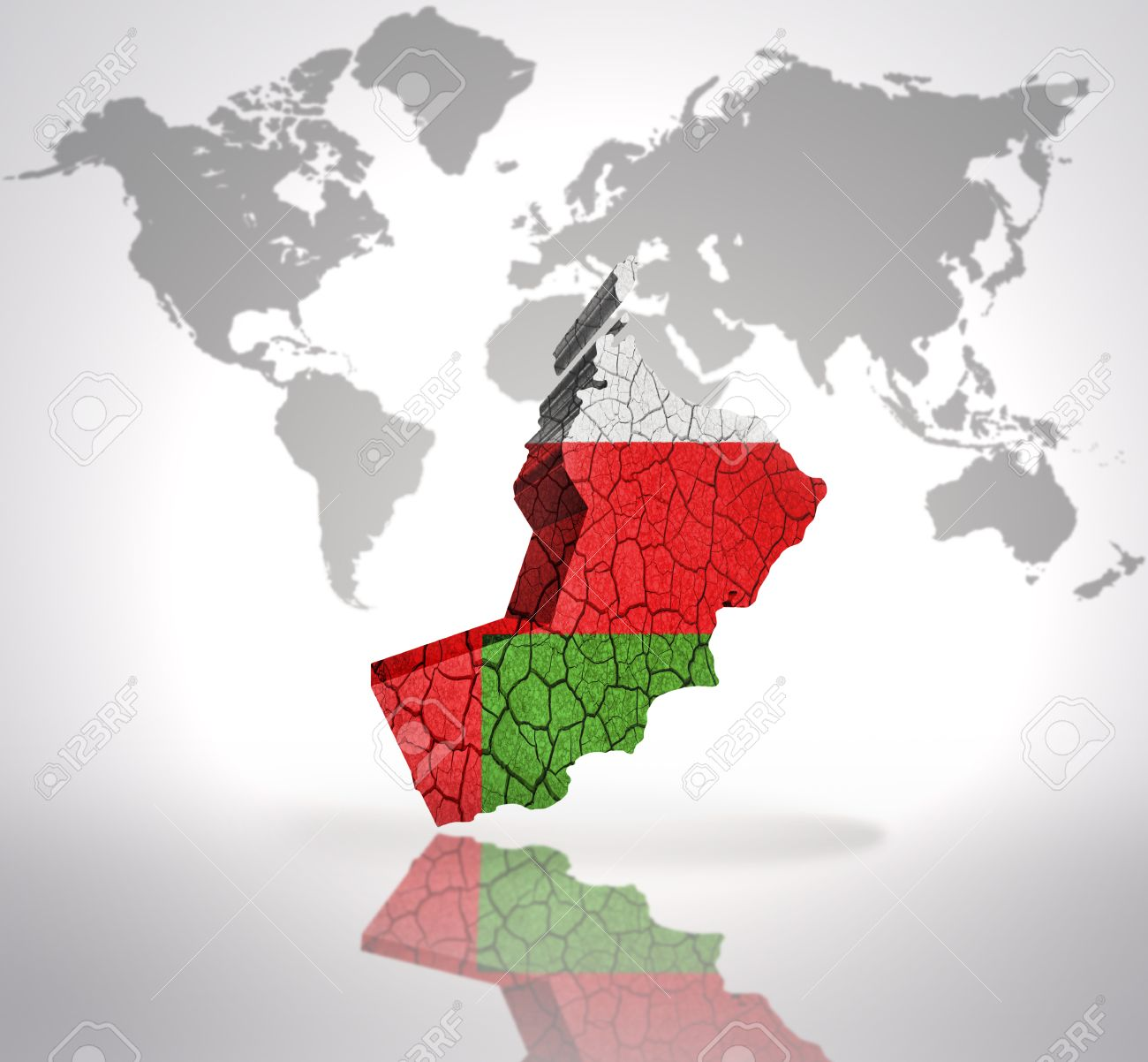 Map of oman with oman flag on a world map background stock photo map of oman with oman flag on a world map background stock photo 32849776 gumiabroncs Choice Image