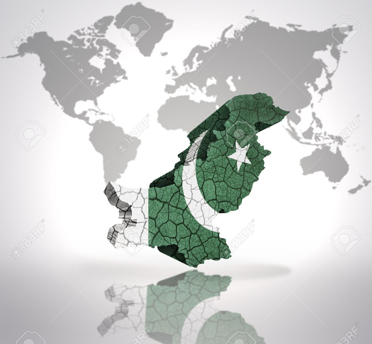Map of pakistan with pakistani flag on a world map background stock map of pakistan with pakistani flag on a world map background stock photo 32849782 gumiabroncs Image collections