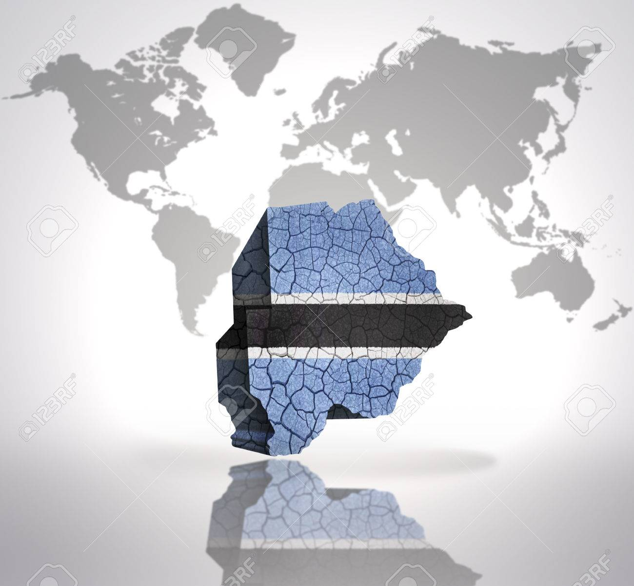 Picture of: Map Of Botswana With Botswana Flag On A World Map Background Stock Photo Picture And Royalty Free Image Image 32873837