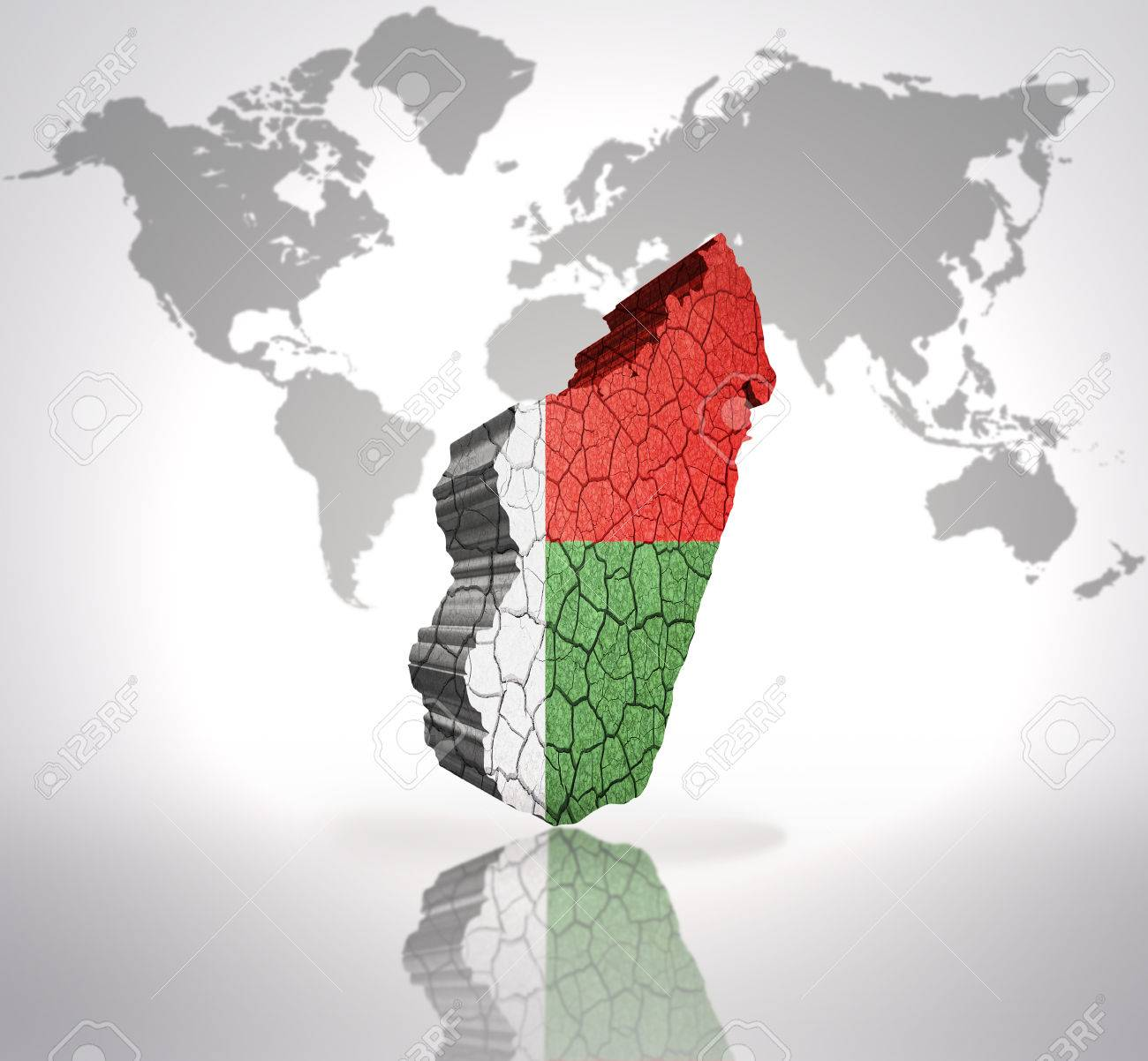 Map of madagascar with madagascar flag on a world map background map of madagascar with madagascar flag on a world map background stock photo 33005921 gumiabroncs Images