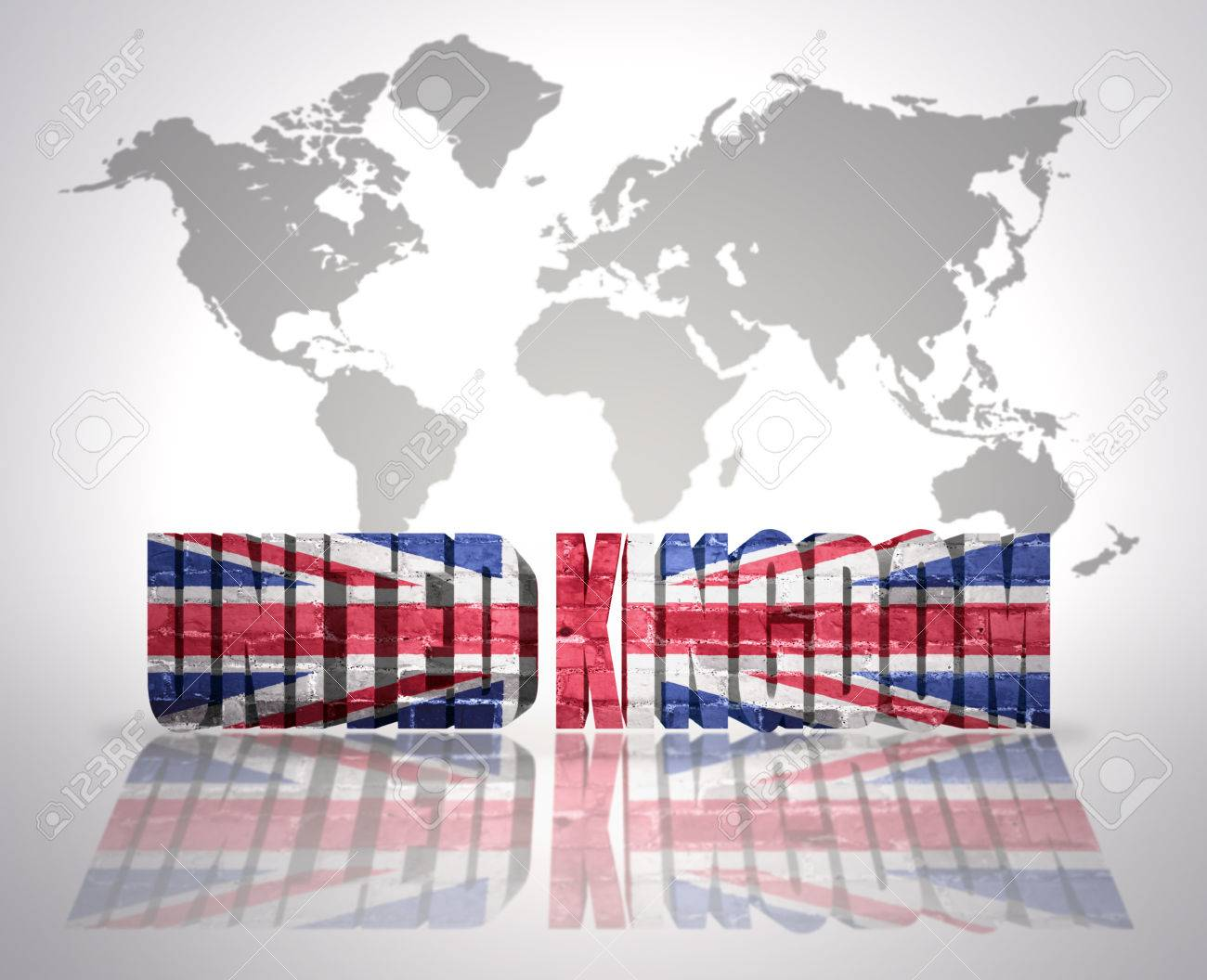 Word united kingdom with uk flag on a world map background stock stock photo word united kingdom with uk flag on a world map background gumiabroncs Gallery
