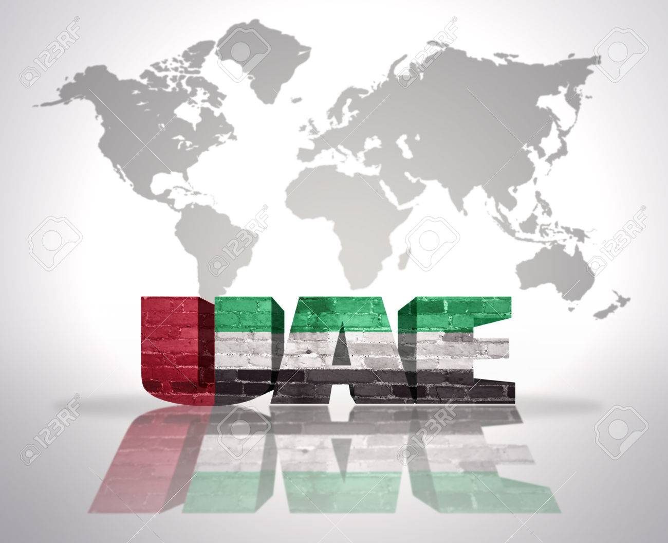 Picture of: Word United Arab Emirates With Uae Flag On A World Map Background Stock Photo Picture And Royalty Free Image Image 34032715
