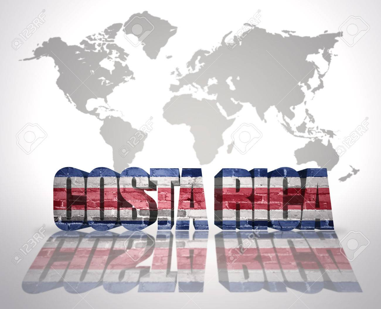 Word costa rica with costa rican flag on a world map background word costa rica with costa rican flag on a world map background stock photo 34392510 gumiabroncs Image collections