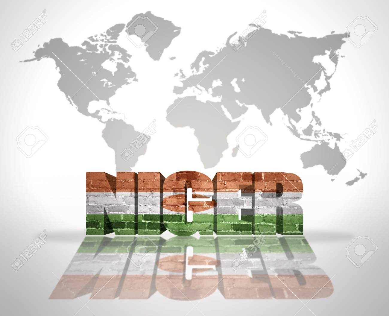 Picture of: Word Niger With Niger Flag On A World Map Background Stock Photo Picture And Royalty Free Image Image 34589139