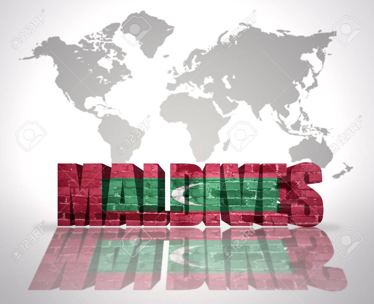 Word Maldives with Maldivian Flag on a world map background on indonesia world map, mauritania world map, dubai world map, burkina faso world map, china world map, costa rica world map, greece world map, tahiti world map, timor-leste world map, cook islands world map, east timor world map, barbados world map, taiwan world map, fiji world map, malawi world map, myanmar world map, new zealand world map, bora bora world map, algeria world map, hong kong world map,