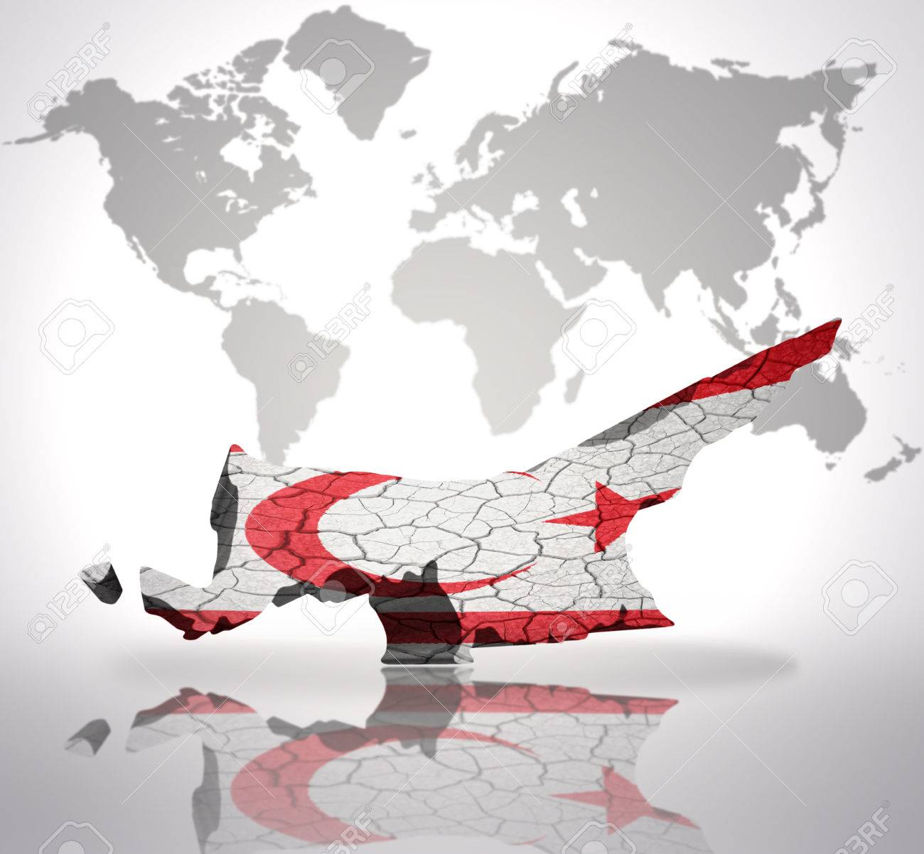 Map of northern cyprus with northern cyprus flag on a world map map of northern cyprus with northern cyprus flag on a world map background stock photo gumiabroncs Images